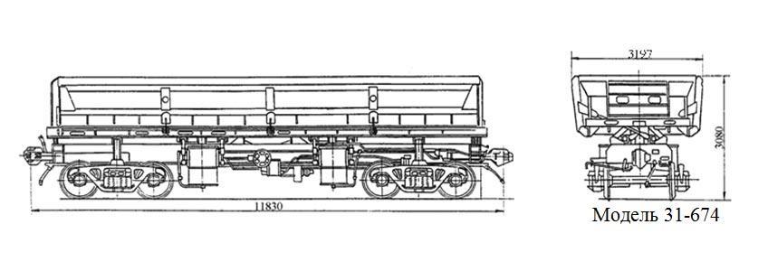 Думпкар. Модель 31-674