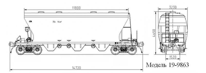 Зерновоз. Модель 19-9863