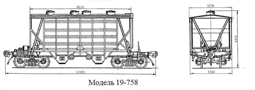Хоппер-цементовоз. Модель 19-758