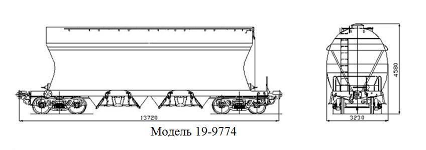 Минераловоз. Модель 19-9774
