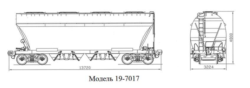 Минераловоз. Модель 19-7017