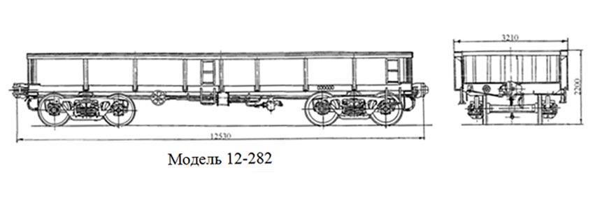 Сталевоз. Модель 12-282